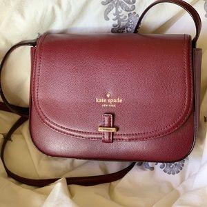 Maroon Kate spade crossbody purse NWT